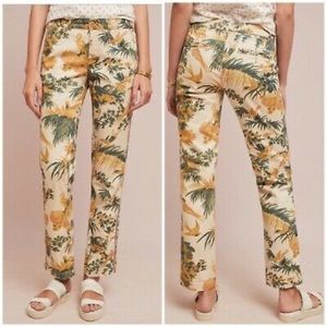 Anthropologie Tropical Chino Pants